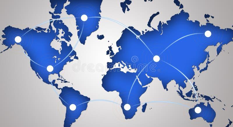 networking globalny symbol ilustracja wektor