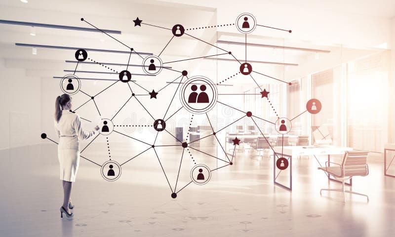 Networking i socjalny komunikacyjny poj?cie jak wydajnego punkt dla nowo?ytnego biznesu obrazy royalty free