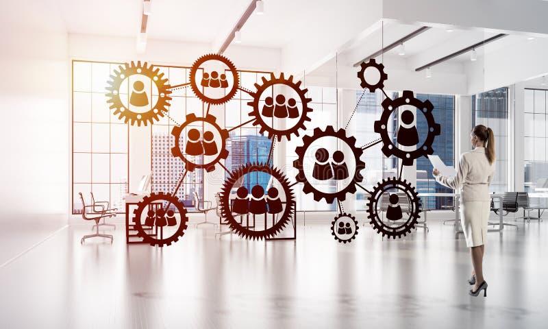 Networking i socjalny komunikacyjny poj?cie jak wydajnego punkt dla nowo?ytnego biznesu zdjęcie royalty free