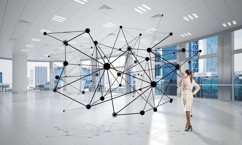 Networking i socjalny komunikacyjny poj?cie jak wydajnego punkt dla nowo?ytnego biznesu fotografia royalty free