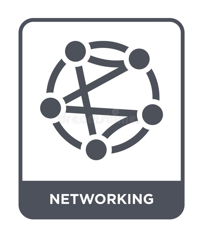 Networking icon in trendy design style. networking icon isolated on white background. networking vector icon simple and modern. Flat symbol for web site, mobile vector illustration