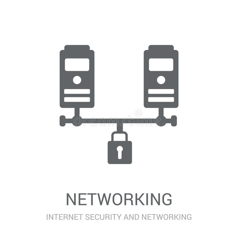 Networking icon. Trendy Networking logo concept on white background from Internet Security and Networking collection. Suitable for use on web apps, mobile apps stock illustration