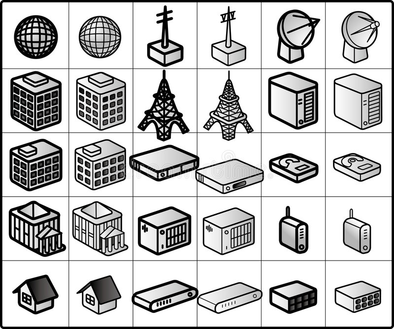 Networking Icons #01 royalty free illustration