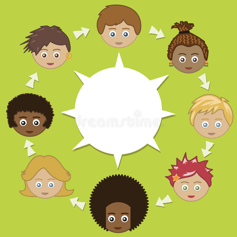 Download Networking kids stock vector. Image of concept, background - 12584883