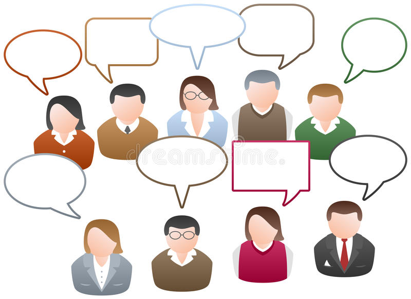 Networking Komunikacja royalty ilustracja