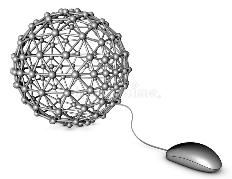 Networking online internet communication abstract concept