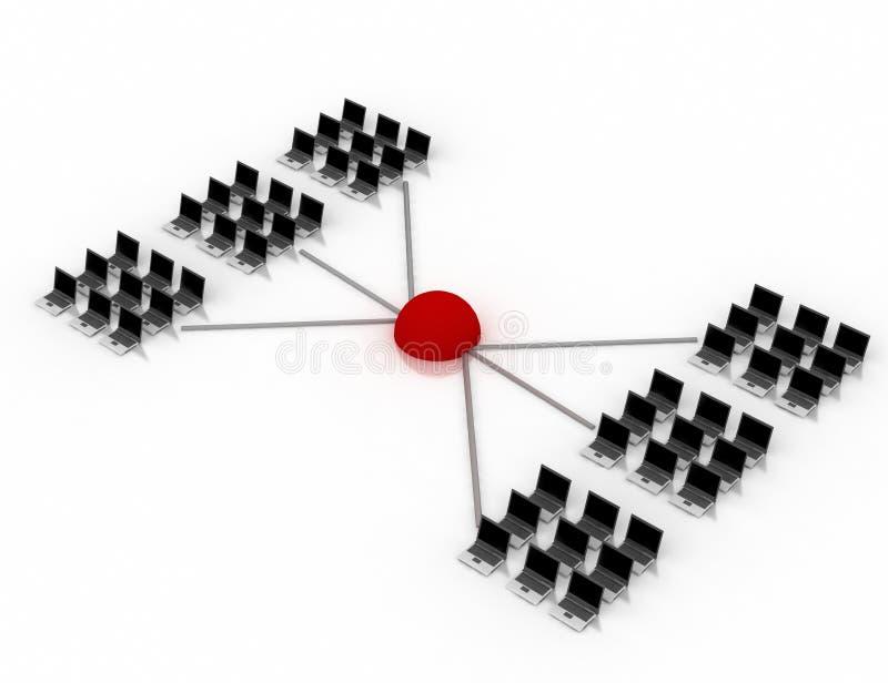 Networking schema vector illustration