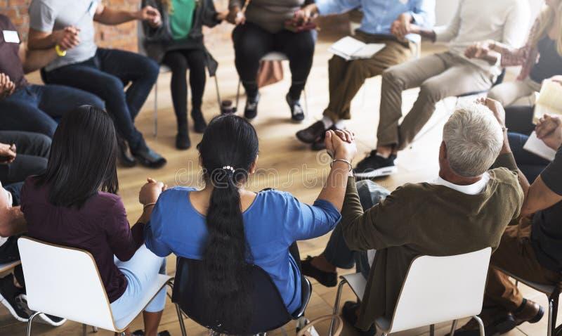 Networking Seminaryjny spotkanie Podnosi pojęcie obraz stock
