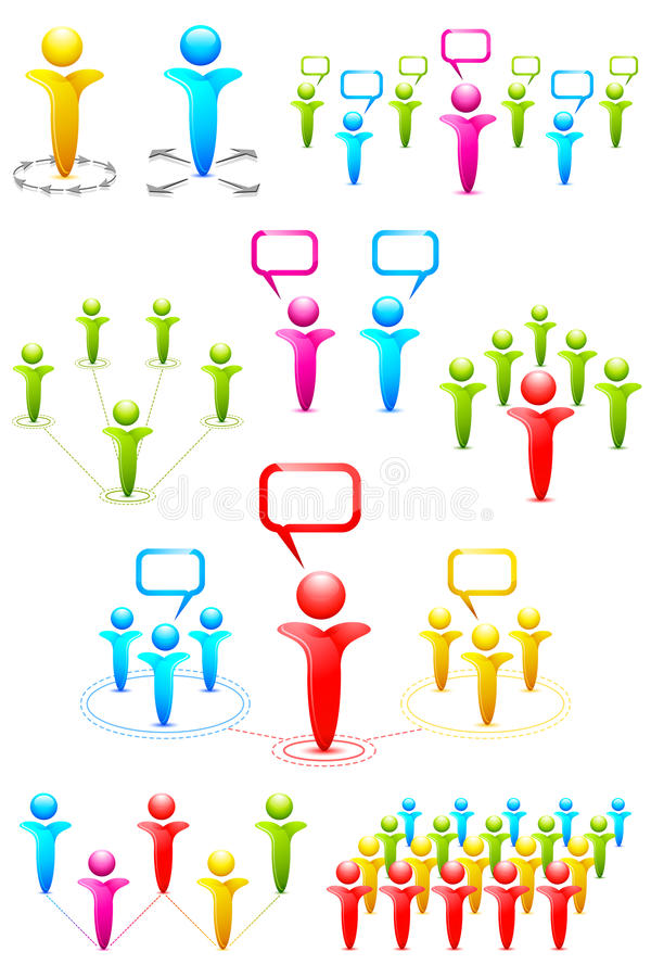 Networking Set Stock Images