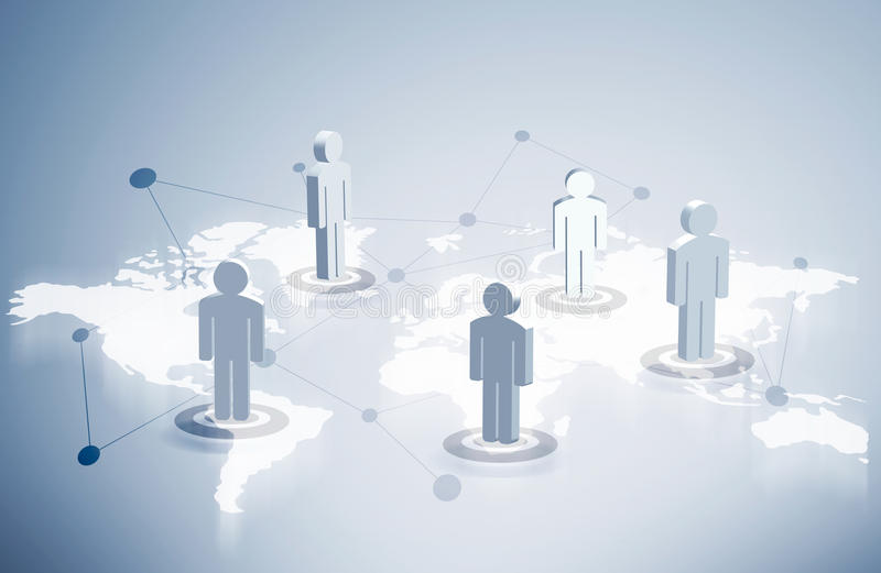 Networking system people icons stock illustration