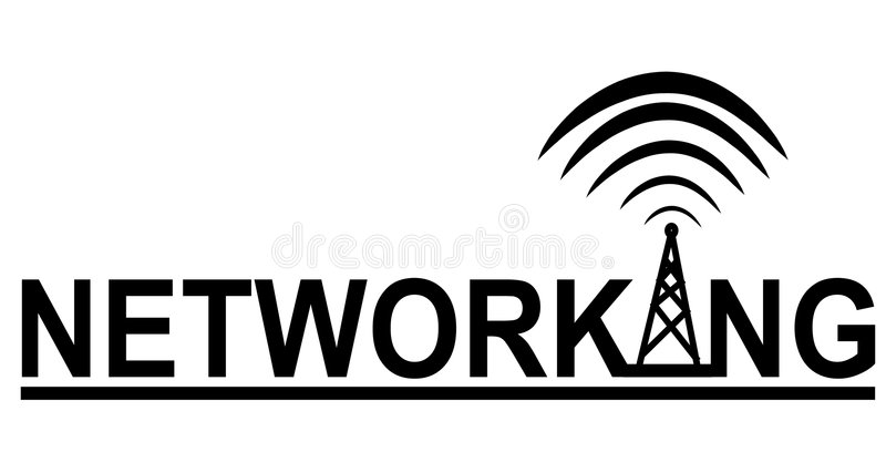 Networking Tower Logo vector illustration