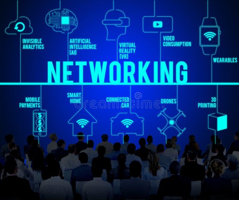 Networking trutni technologii Związany pojęcie zdjęcie stock