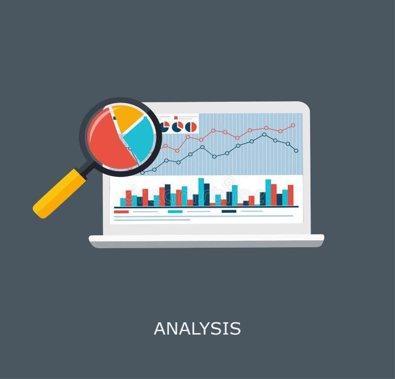 Netz-Analytik-Informationen und Entwicklungs-Website-Statistik stock abbildung