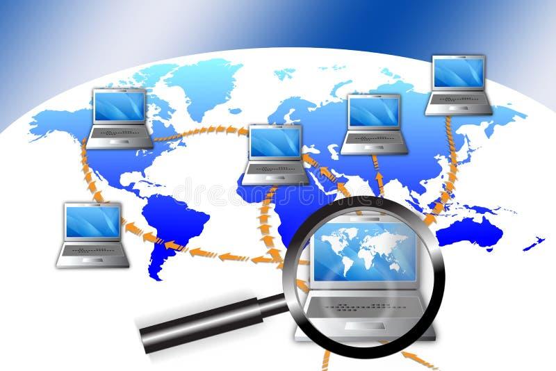 Netz-Betrugs-Untersuchung lizenzfreie abbildung