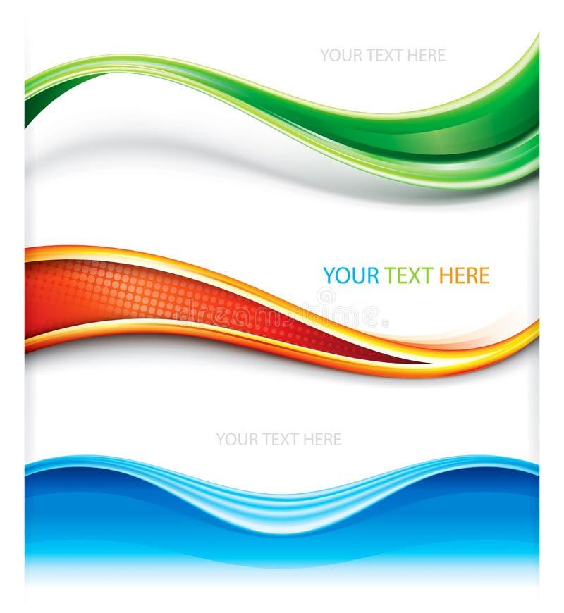 Netz-Dekorations-Fahne lizenzfreie abbildung