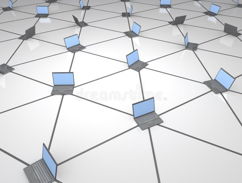 Netz der Computer vektor abbildung
