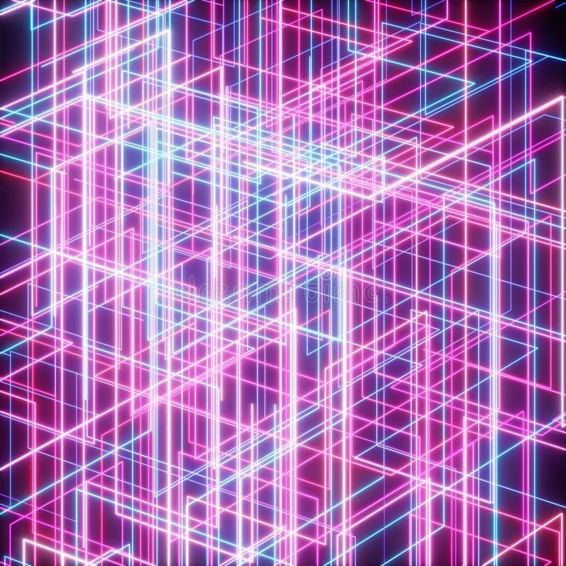 Netz des Streifens und des Lichtes lizenzfreie abbildung