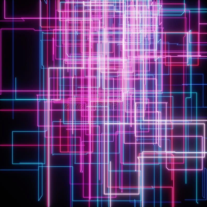 Netz des Streifens und des Lichtes vektor abbildung
