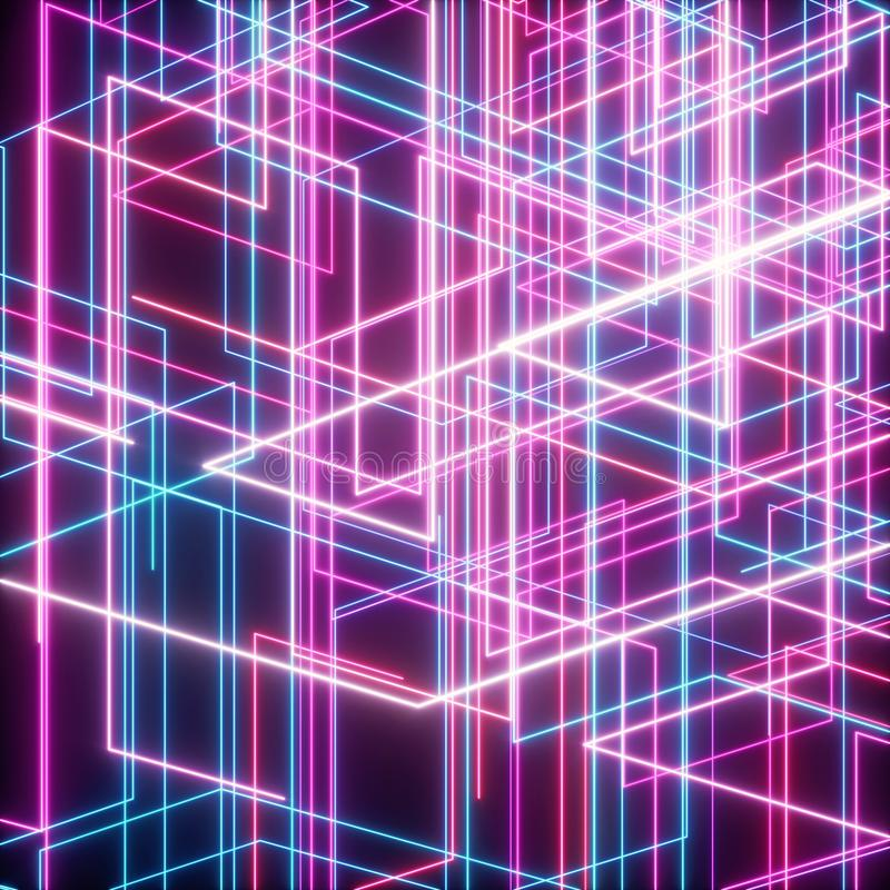Netz des Streifens und des Lichtes stock abbildung