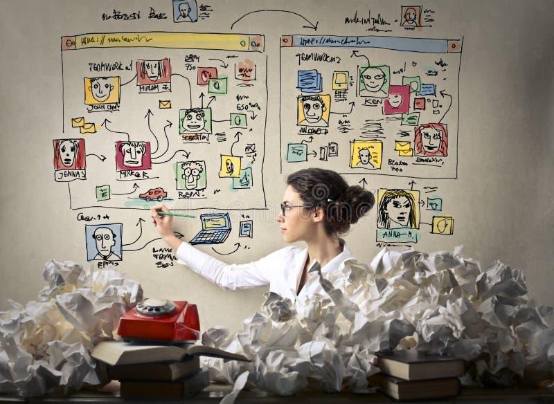 Netz-Designer stockbild
