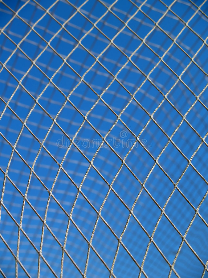 Netz in einem Fußbalziel stockfotografie