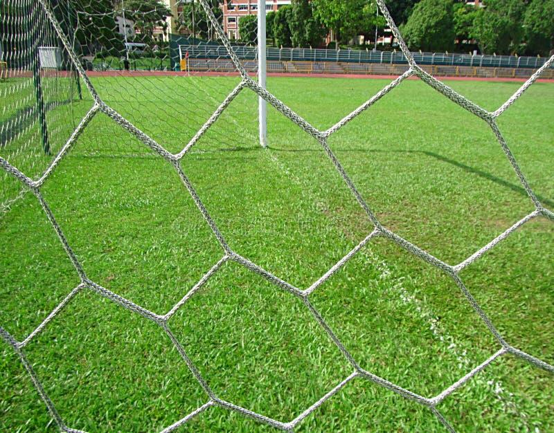 Netz eines Fußball-Ziels lizenzfreie stockbilder