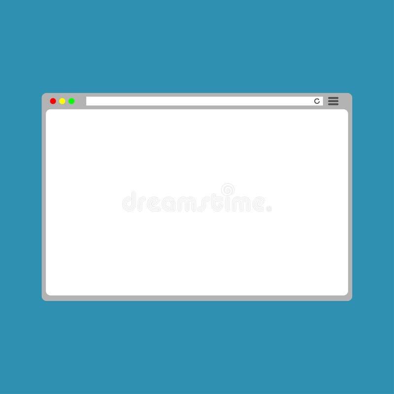 Netz-einfaches Browser Window Weiß stock abbildung