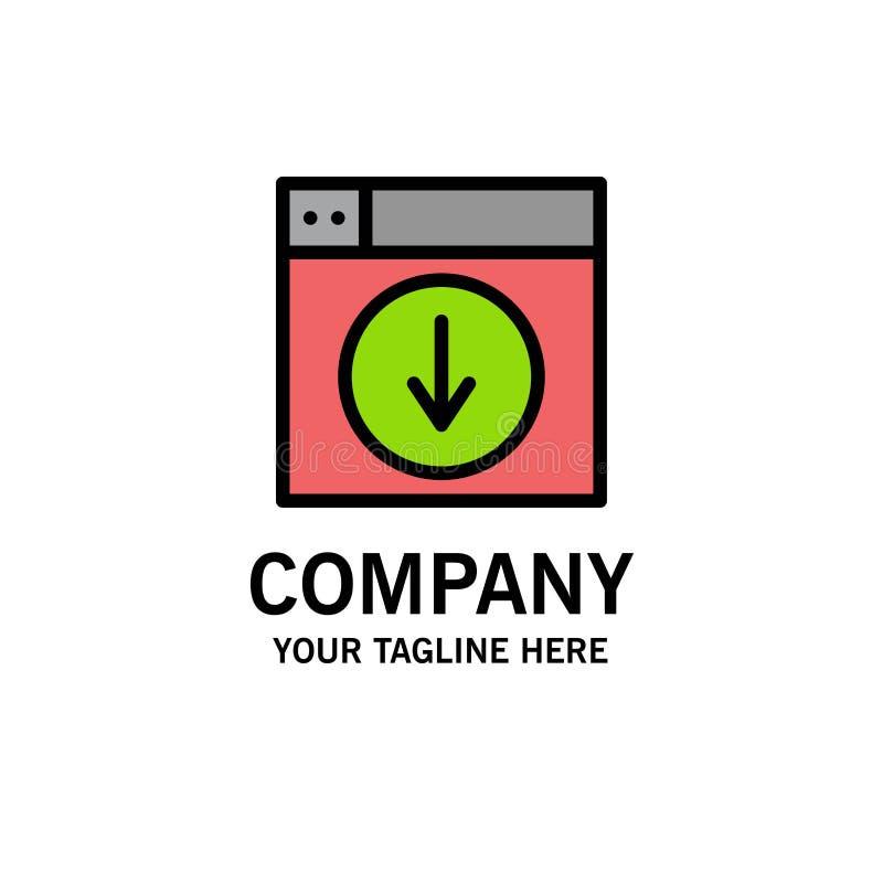 Netz, Entwurf, Download unten Anwendung Geschäft Logo Template flache Farbe lizenzfreie abbildung