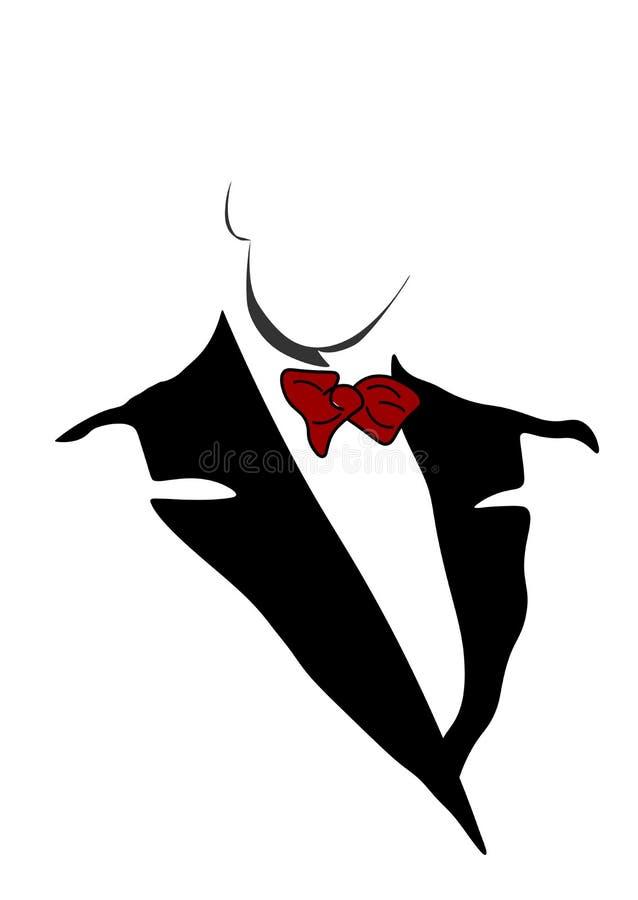 Netz-Geschäftsmannikone in der modischen flachen Art lokalisiert auf weißem Hintergrund Symbol f?r Ihr Websitedesign, Logo, APP,  lizenzfreie abbildung