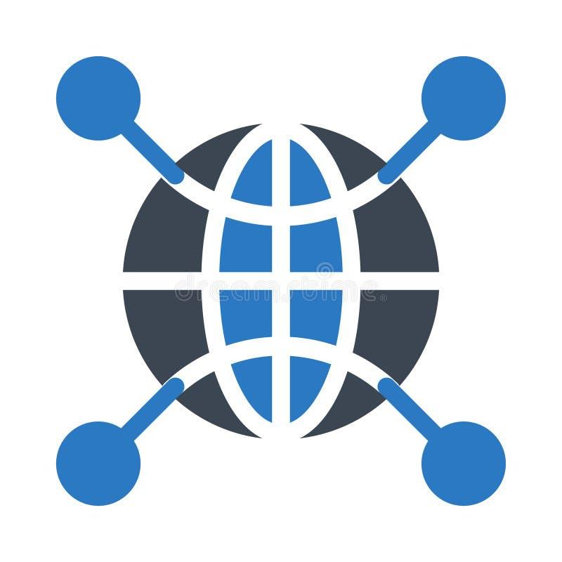 Netz Glyphfarbvektorikone stock abbildung
