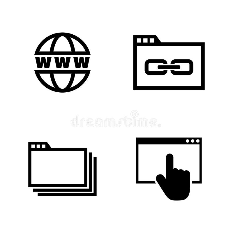 Netz-Grasen Einfache in Verbindung stehende Vektor-Ikonen lizenzfreie abbildung