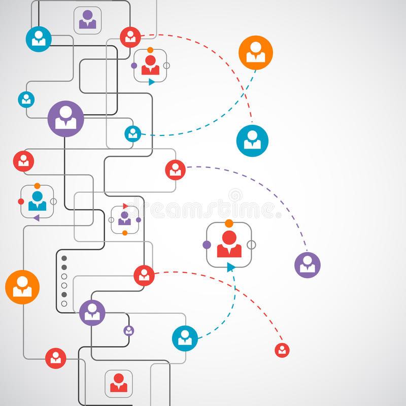 Netz-Konzept/Social Media vektor abbildung