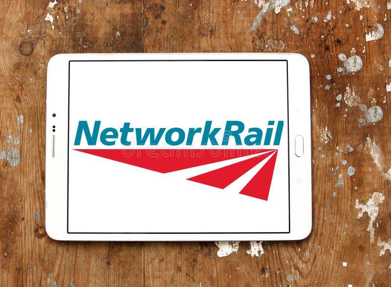 Netz-Schienenlogo lizenzfreie stockfotos