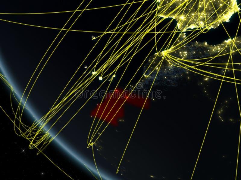 Netz um Westsahara vom Raum vektor abbildung
