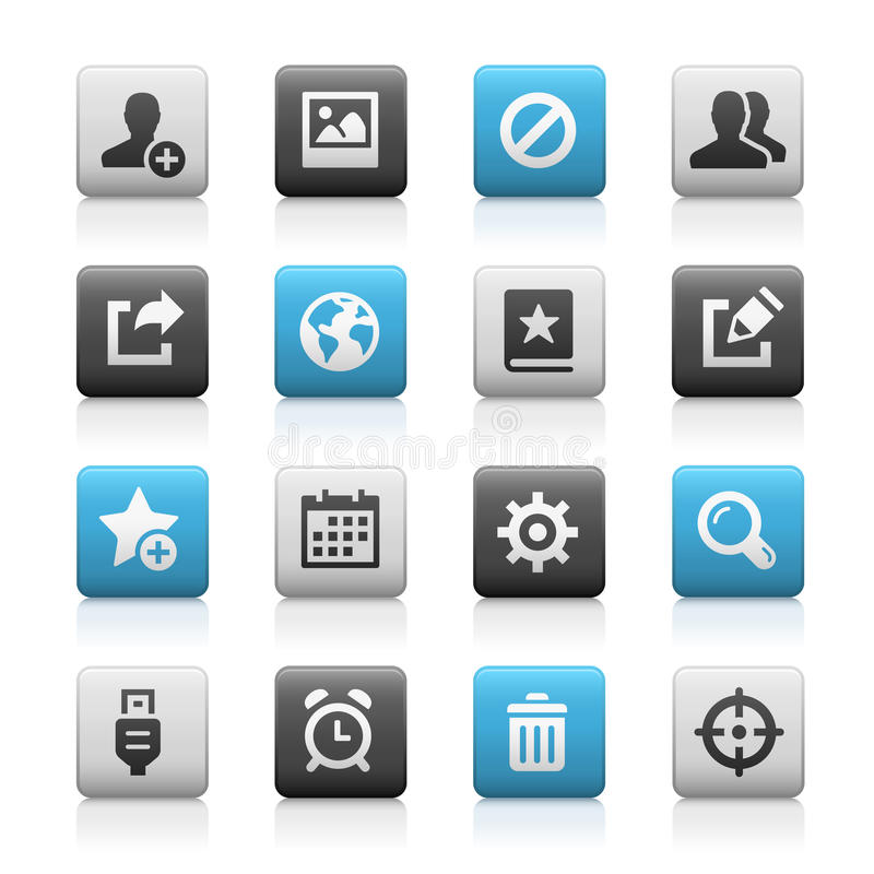 Netz und bewegliche Ikonen 2 - Matte Series lizenzfreie abbildung
