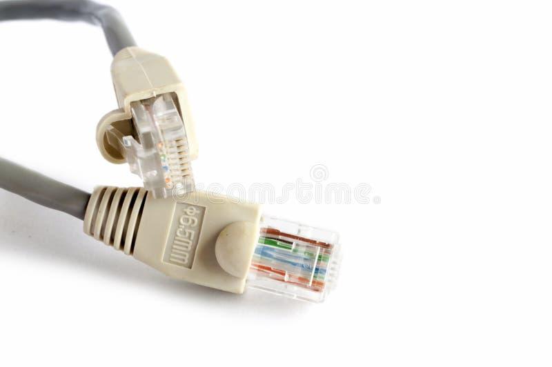 Netz- und Fleckenkabel lizenzfreies stockbild