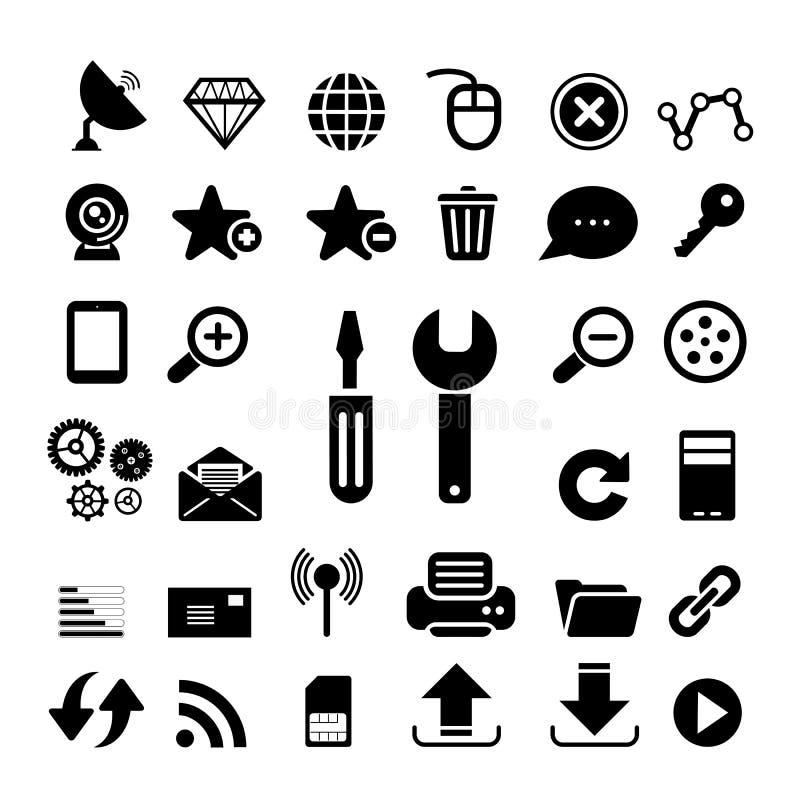Netz- und Internet-Ikone lizenzfreie abbildung