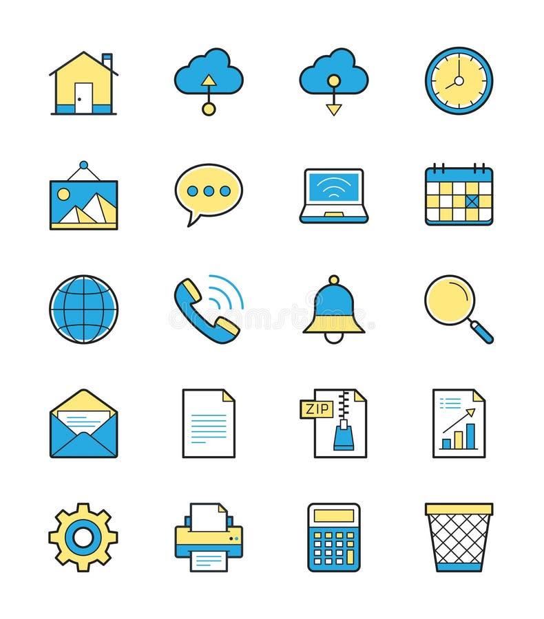 Netz- und Internet-Ikone, einfarbige Farbe - Vector Illustration stock abbildung