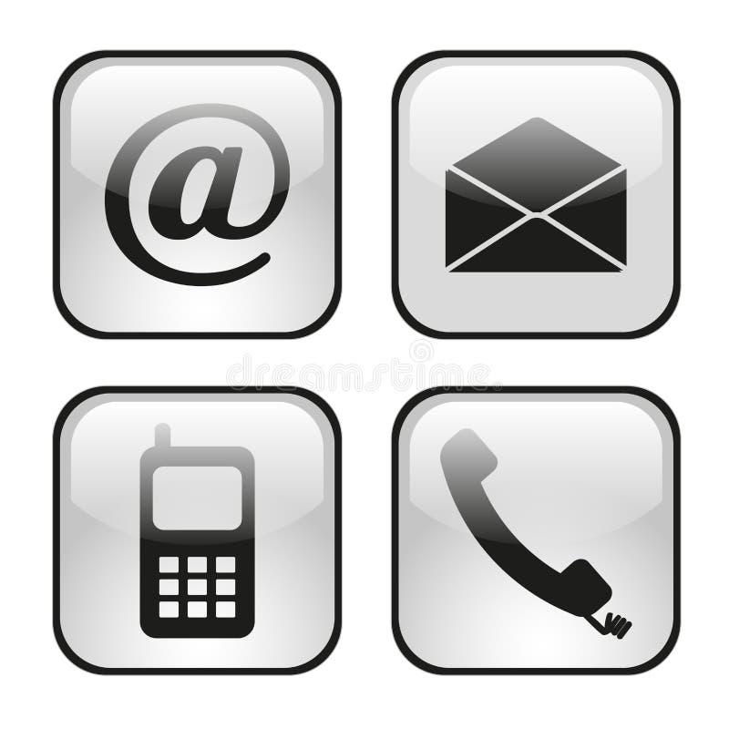 Netz- und Internet-Ikonen eingestellt lizenzfreie abbildung
