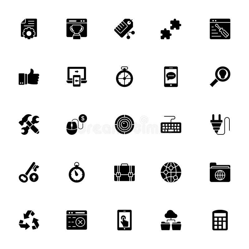 Netz und Seo Icons Set vektor abbildung