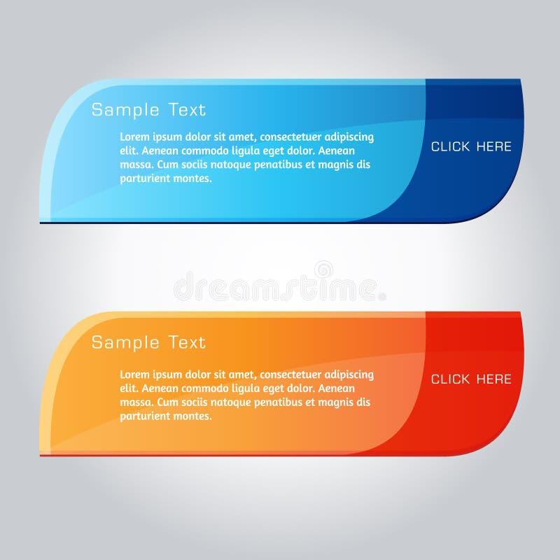 Netz-Vektor-Knopf-Satz lizenzfreie abbildung