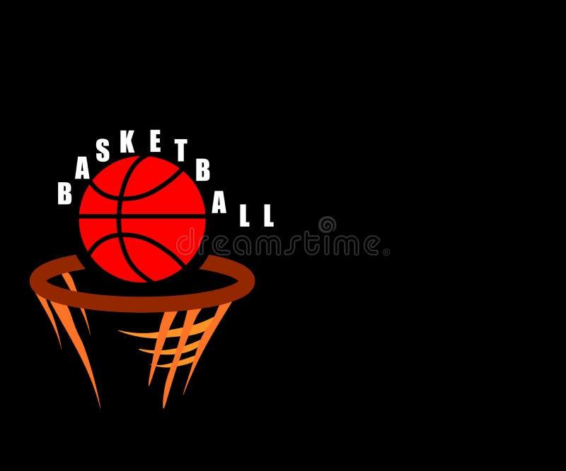 Netz-Vektorbasketballsportballlogoikonen-Sonne burtst drucken Handgezogene Weinleselinie Kunstentwurf lizenzfreie abbildung