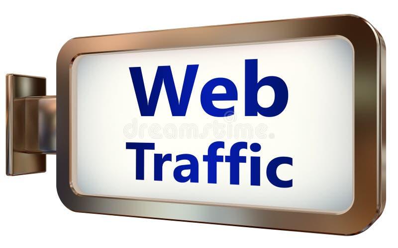 Netz-Verkehr auf Anschlagtafelhintergrund vektor abbildung