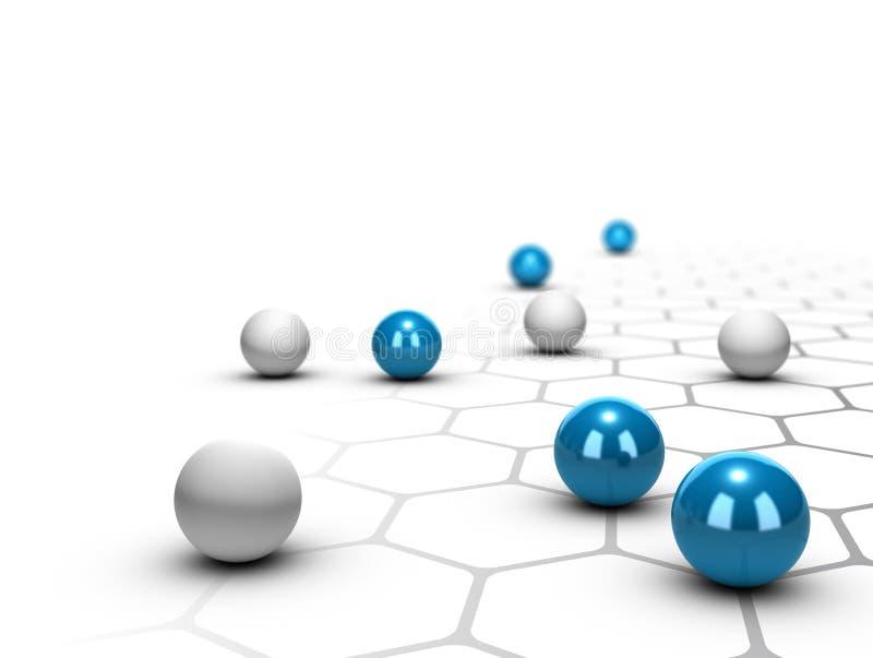 Netz-, Vernetzungs-und Verbindungs-Konzept stock abbildung