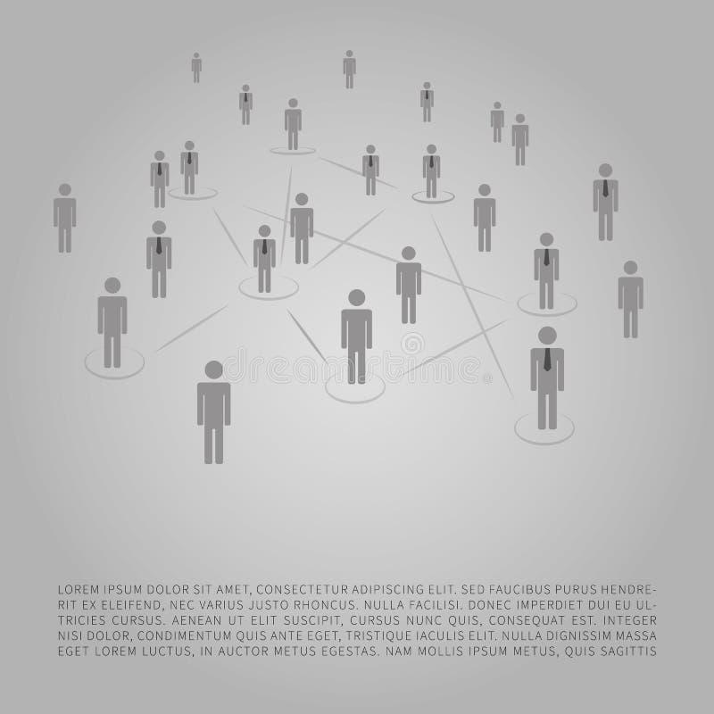 Netze - Geschäftsverbindungen - Social Media-Konzept-Design vektor abbildung