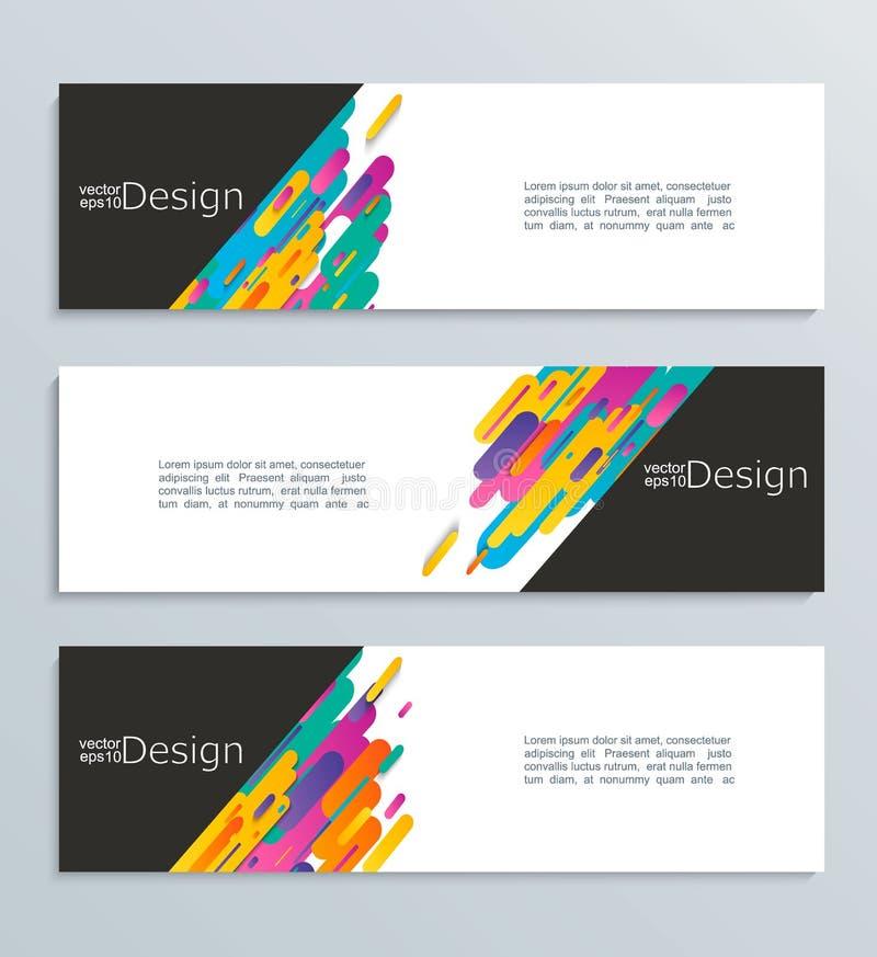 Netzfahne für Ihr Design, Titelschablone stock abbildung