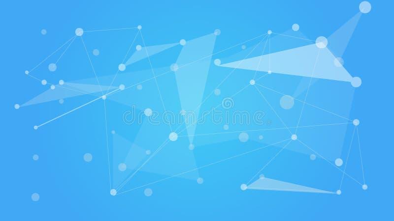Netzfarbtechnologie-Kommunikationshintergrund Kommunikationssozialmasche Polygonaler Hintergrund des Netzes Vektor lizenzfreie abbildung