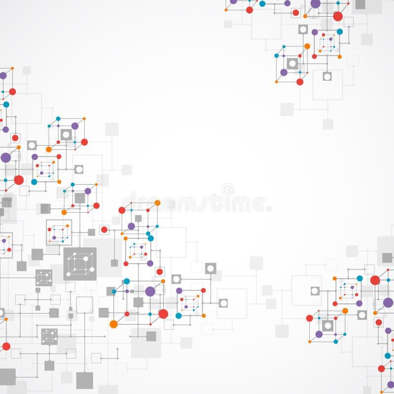 Netzfarbtechnologiehintergrund lizenzfreie abbildung