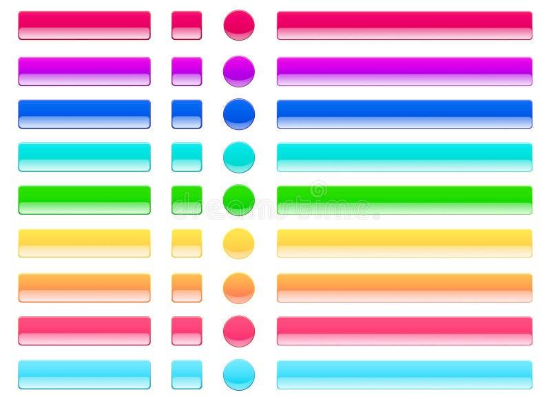 Netzgelee knöpft helle Farben lizenzfreie abbildung