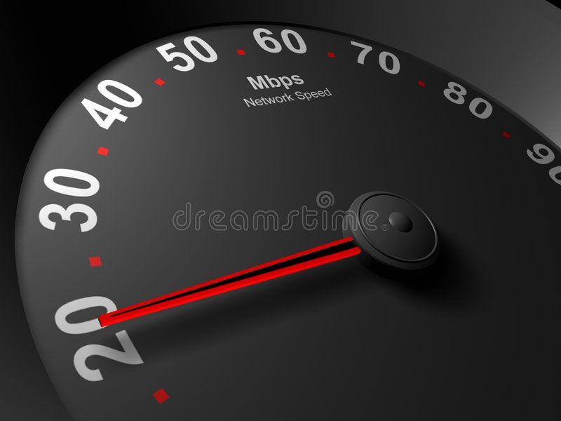 Netzgeschwindigkeitsmesser-Auszugsbild von Mbps lizenzfreie abbildung